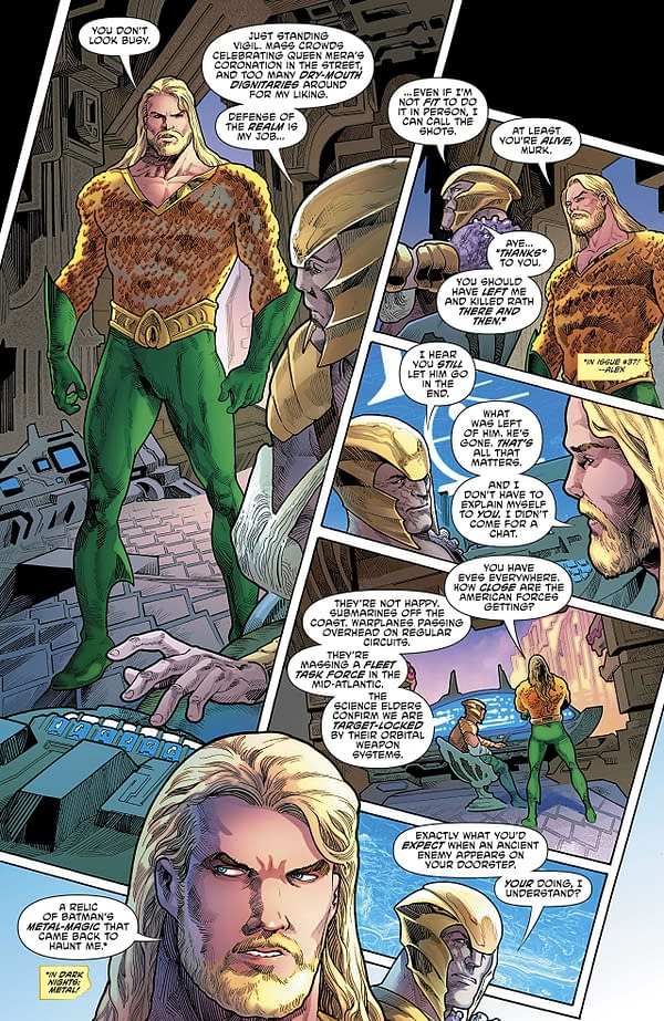 Aquaman #39 art by Joe Bennett, Vicente Cifuentes, and Adriano Lucas