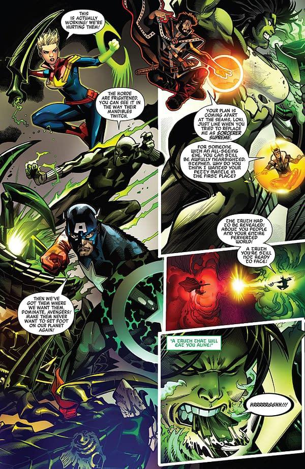 Avengers #6 art by Ed McGuinness, Paco Medina, Juan Vlasco, Mark Morales, and David Curiel