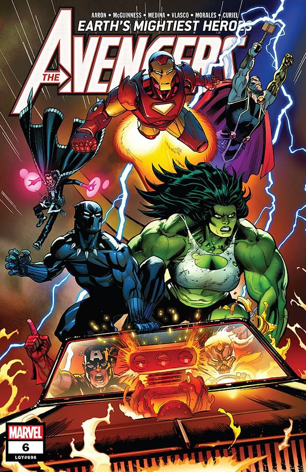 Avengers #6 cover by Ed McGuinness, Mark Morales, and David Curiel