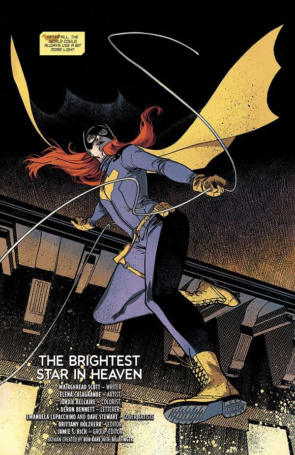 Batgirl Annual #2 art by Elena Casagrande and Jordie Bellaire