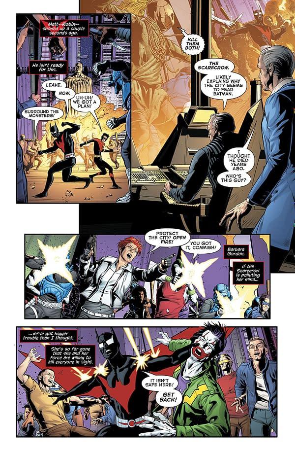 Batman Beyond #23 art by Will Conrad and Ivan Nunes