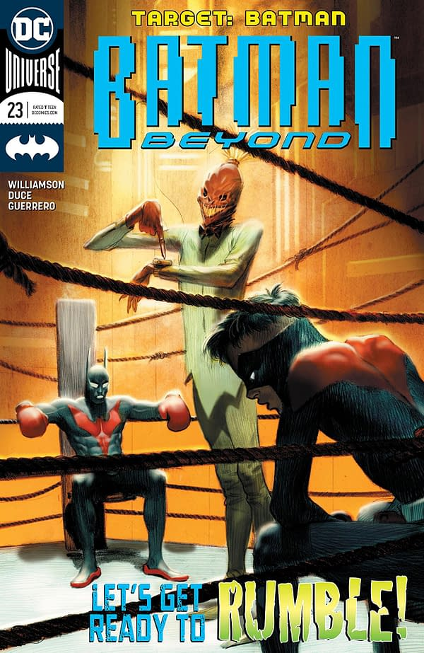 Batman Beyond #23 cover by Viktor Kalvachev