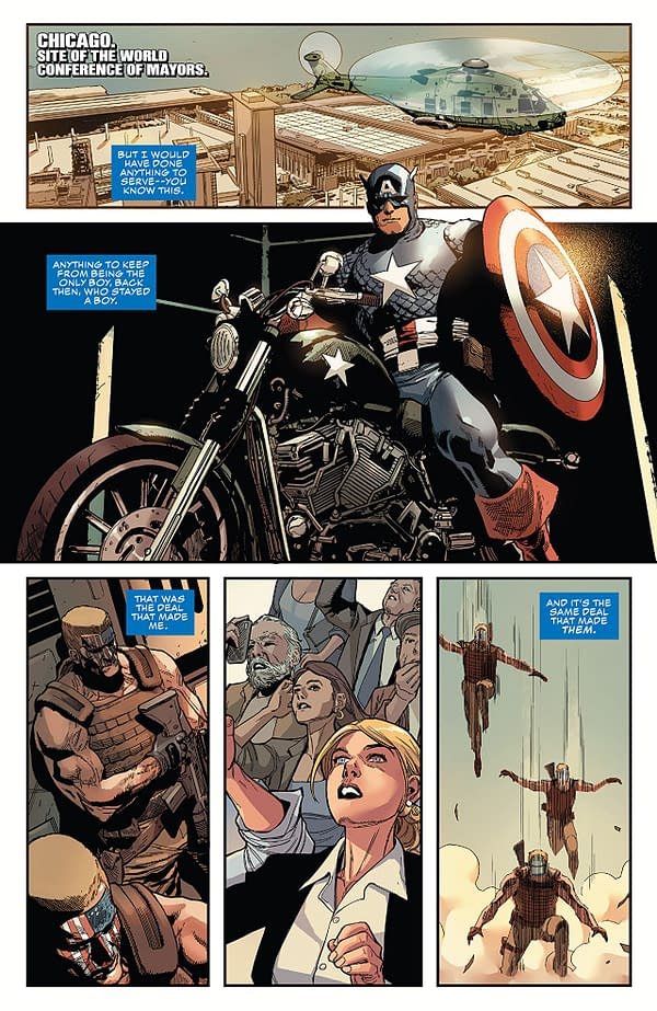 Captain America #2 art by Leinil Francis Yu, Gerry Alanguilan, and Sunny Gho