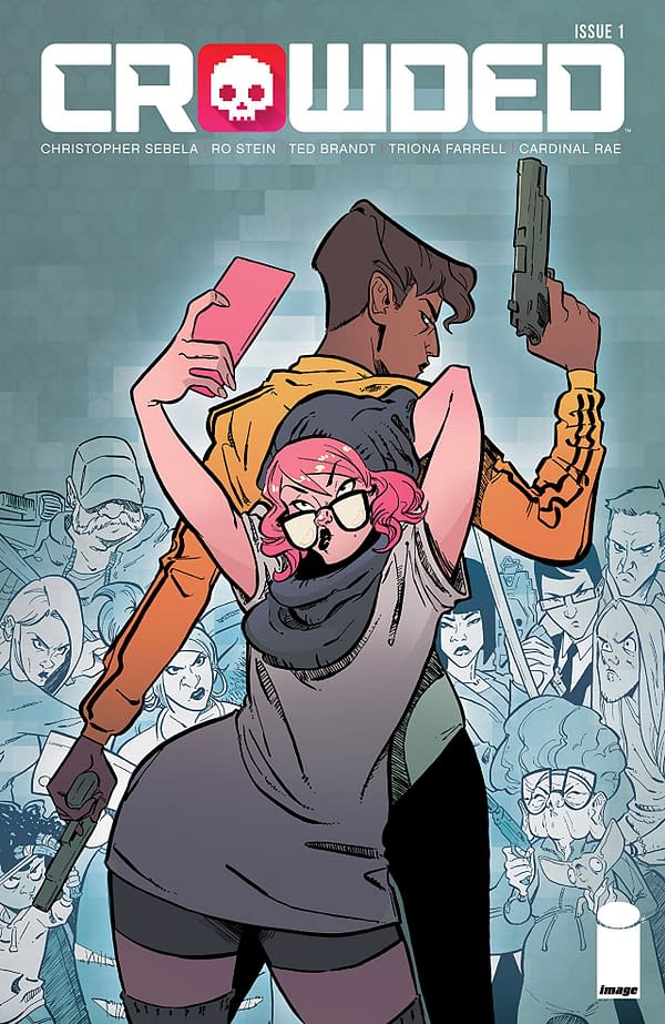 Crowded #1 cover by Ro Stein, Ted Brandt, and Triona Farrell