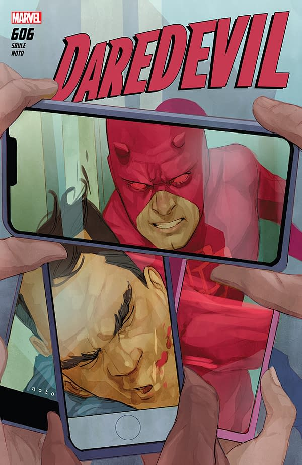 Daredevil #606 cover by Phil Noto
