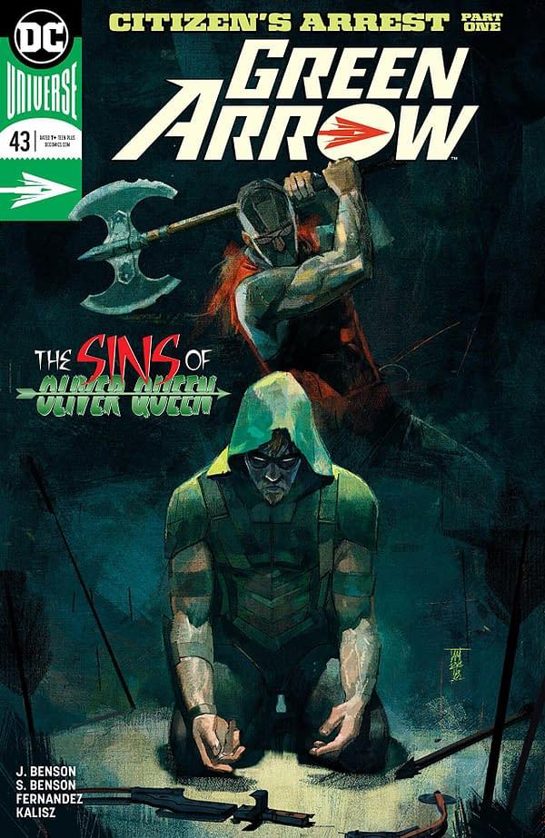 Green Arrow #43 cover by Alex Maleev