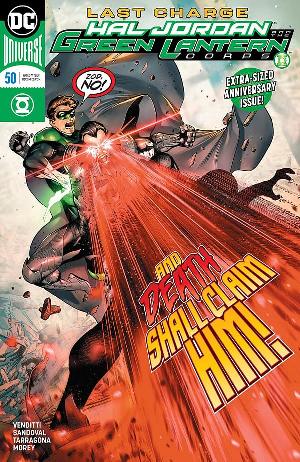 Hal Jordan and the Green Lantern Corps #50 cover by Rafa Sandoval, Jordi Tarragona, and Tomeu Morey