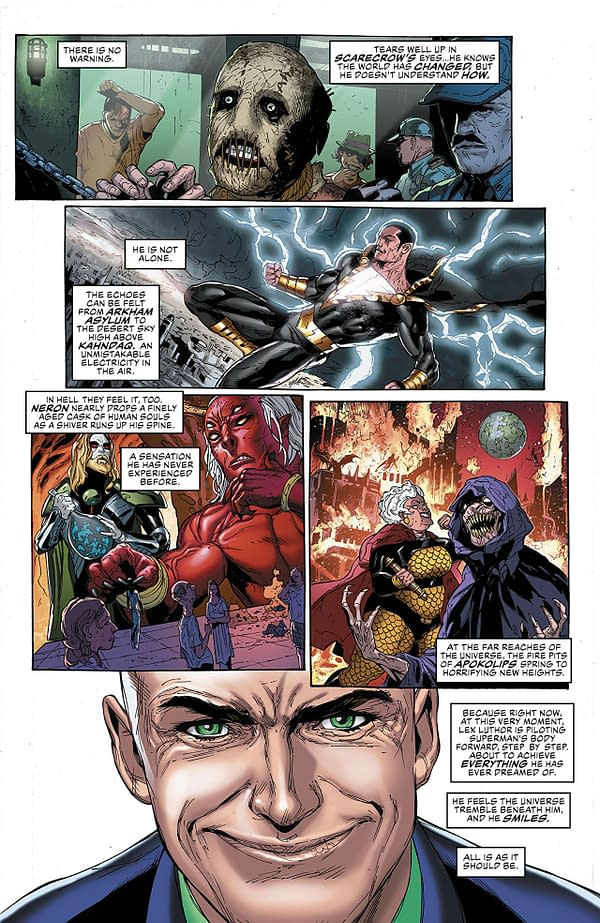 Justice League #5 art by Doug Mahnke, Jaime Mendoza, and Wil Quintana