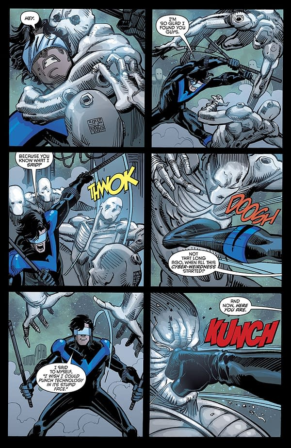 Nightwing #47 art by Chris Mooneyham, Klaus Janson, and Nick Filardi