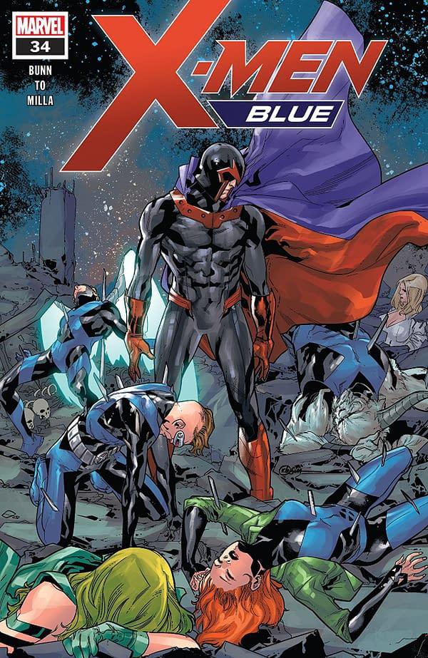 X-Men: Blue #34 cover by R.B. Silva