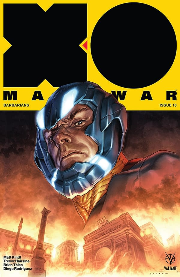 X-O Manowar #18 cover by Lewis Larosa