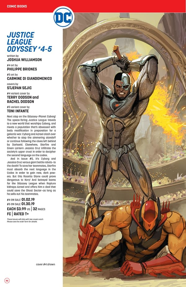 The Full DC Comics Catalogue for January 2019