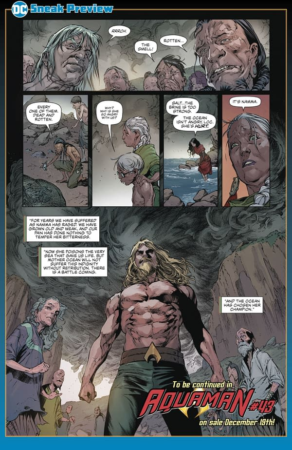 Aquaman, Now a Fisherman, in Kelly Sue DeConnick and Robson Rocha's Revamp (Preview)