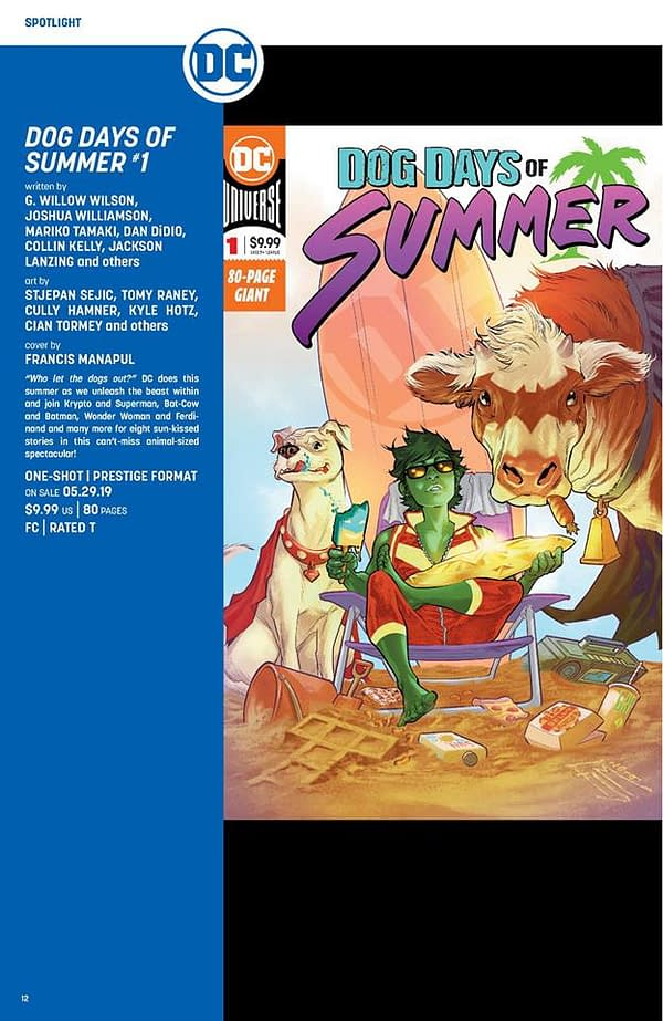 Dog Days of Summer: DC Super Pets Get a $10 Summer Special in May