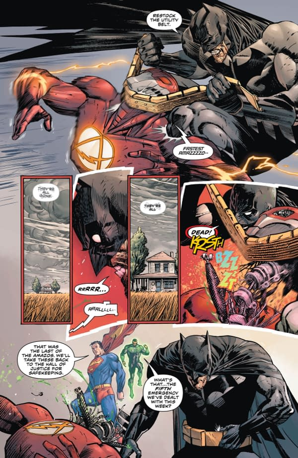 Bruce's Autopsy Of Wally West in Batman #64 – Preview of the Flash/Heroes In Crisis Crossover