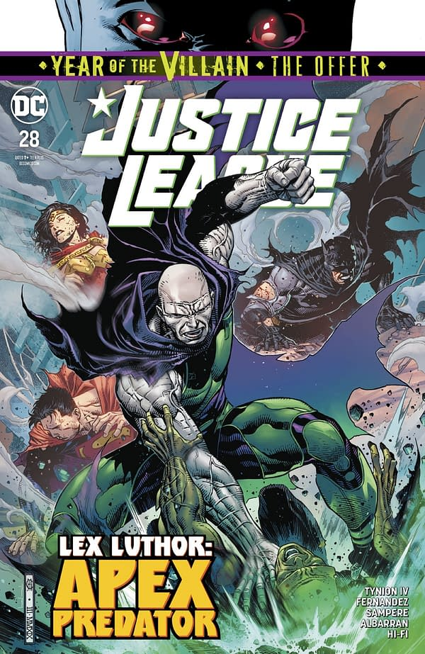 Five Pages from Justice League #28 and Aquaman #50 [Preview]