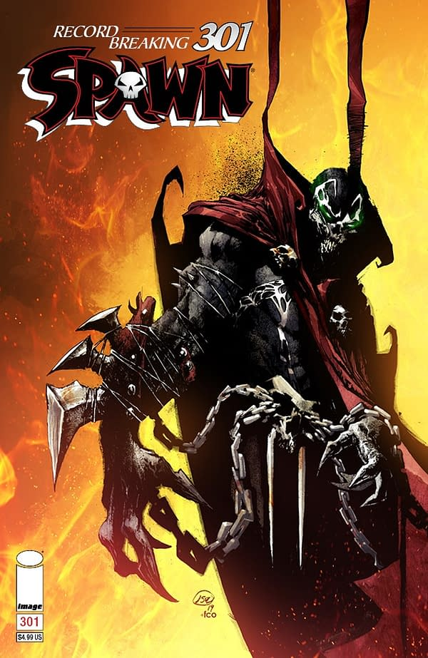 Image Extends Spawn #301 FOC For Bill Sienkiewicz, Daniel Opeña, and J Scott Campbell Covers
