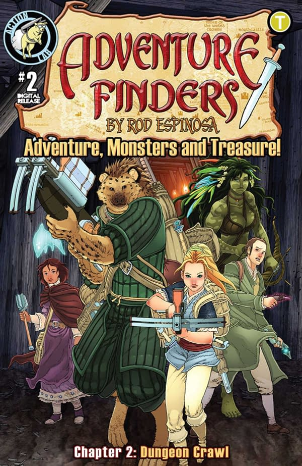The cover of Adventure Finders #2 by Rod Espinosa and published by Action Lab.