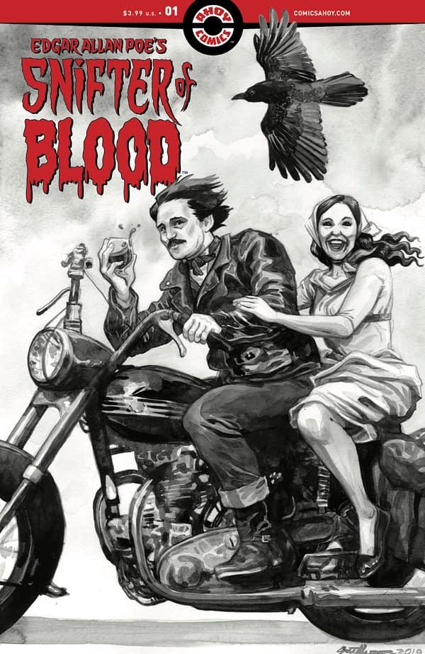 Snifter of Blood #1 cover, announced alongside of Second Coming's return. Credit: AHOY Comics.