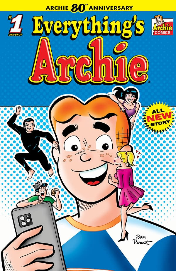 The main cover to Everything's Archie by Dan Parent.