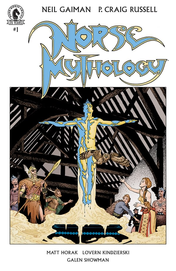 The cover to Neil Gaiman's Norse Mythology