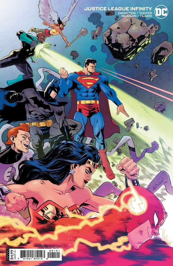 Variant cover to Justice League Infinity