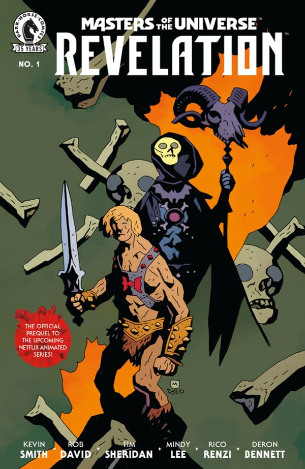 Masters of the Universe: Revelation #1 variant cover by Mike Mignola