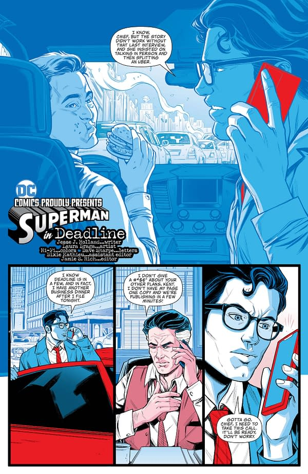 Interior preview page from SUPERMAN RED & BLUE #3 (OF 6) CVR A PAUL POPE