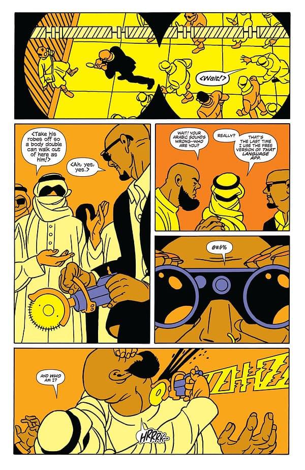 NINJAK #1 script by Jeff Parker; artwork by Javier Pulido; letters by Dave Sharpe