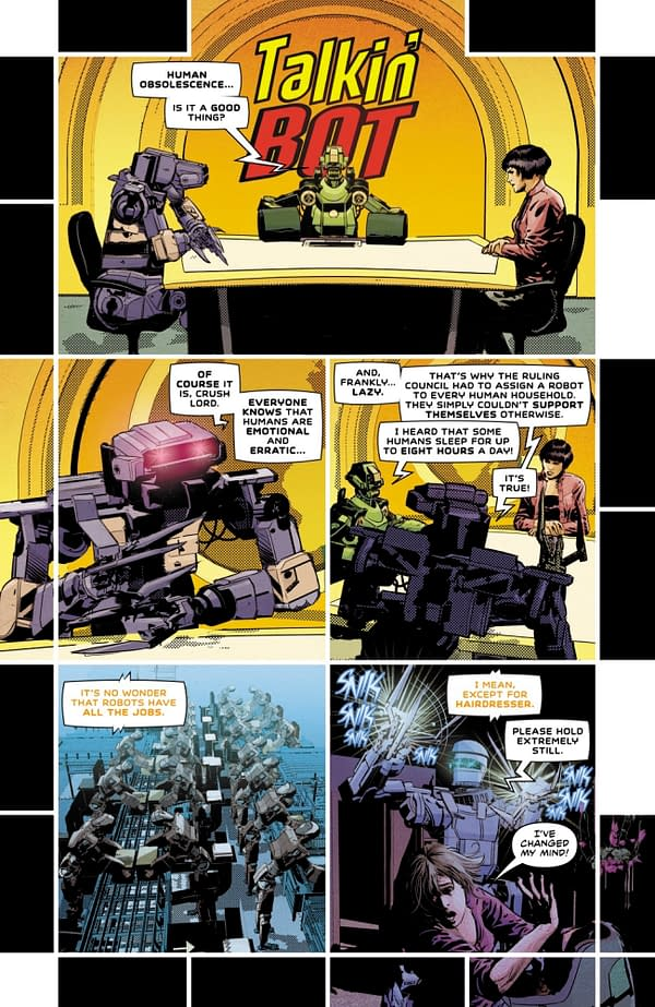 Not All Robots – Mark Russell & Mike Deodato Create New AWA Comic