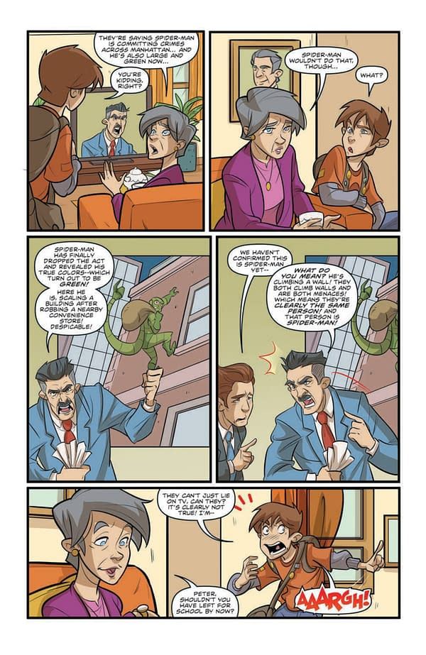 Interior preview page from MARVEL ACTION SPIDER-MAN #2