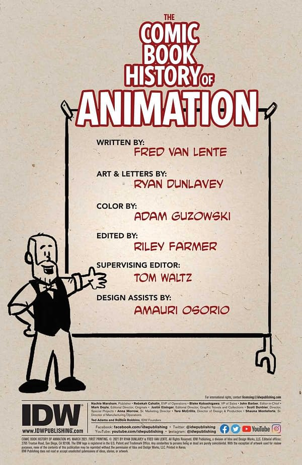 Interior preview page from COMIC BOOK HISTORY OF ANIMATION #5 (OF 5) CVR A DUNLAVEY