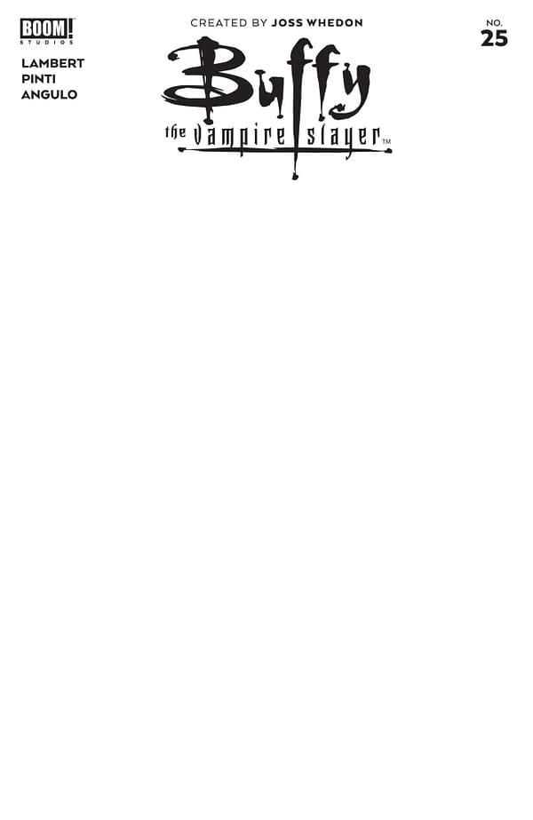 Cover image for BUFFY THE VAMPIRE SLAYER #25 CVR D BLANK SKETCH VAR