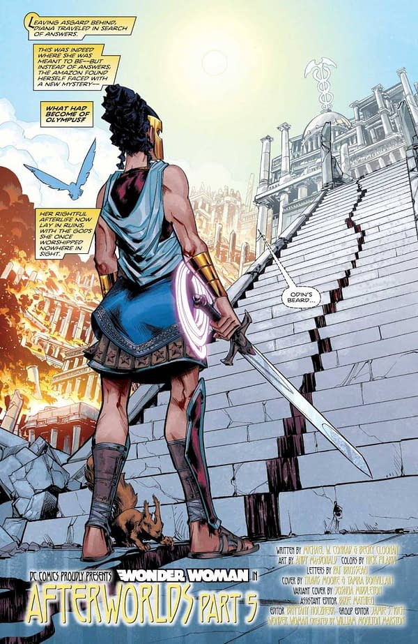Interior preview page from WONDER WOMAN #774 CVR A TRAVIS MOORE