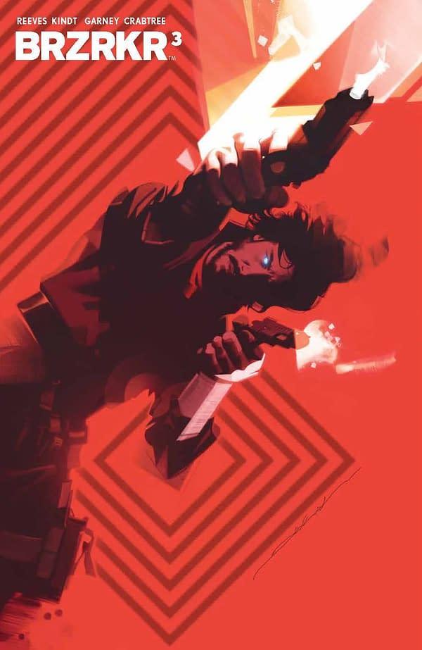 Cover image for BRZRKR (BERZERKER) #3 (OF 12) CVR D DEKAL FOIL VAR (MR)