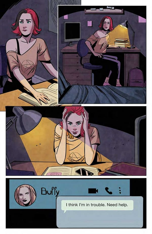 Interior preview page from BUFFY THE VAMPIRE SLAYER #26 CVR A FRANY