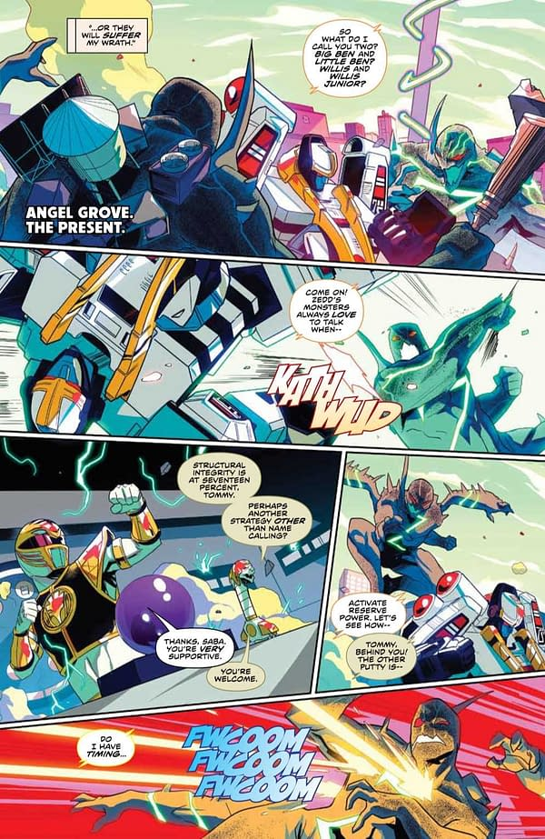 Interior preview page from MIGHTY MORPHIN #8 CVR A LEE