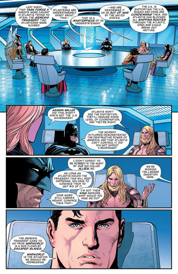 Interior preview page from ACTION COMICS #1033 CVR A DANIEL SAMPERE