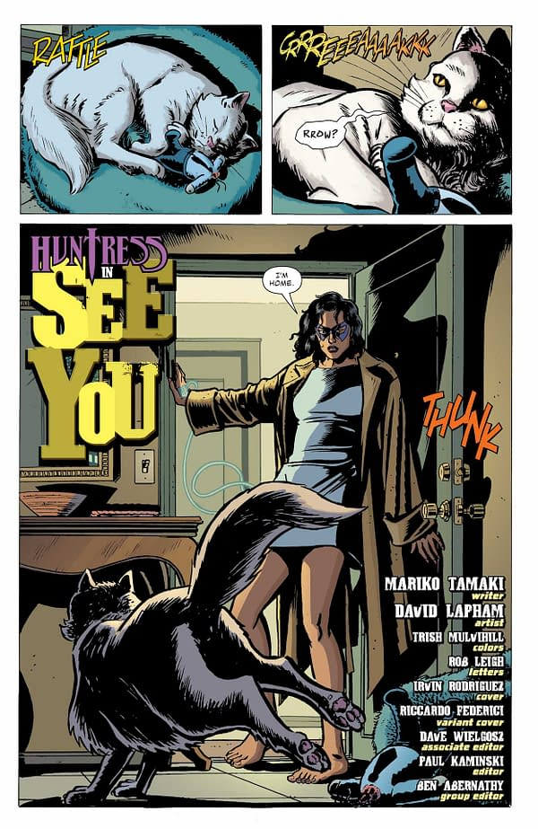 Interior preview page from BATMAN SECRET FILES HUNTRESS #1 (ONE SHOT) CVR A IRVIN RODRIGUEZ