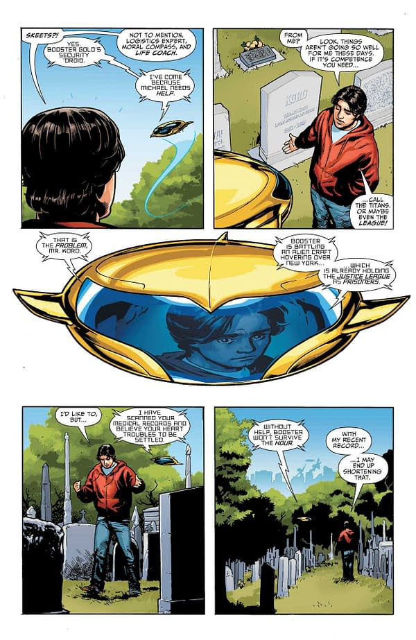 Interior preview page from BLUE & GOLD #1 (OF 8) CVR A RYAN SOOK