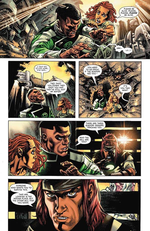 Interior preview page from GREEN LANTERN #4 CVR A BERNARD CHANG