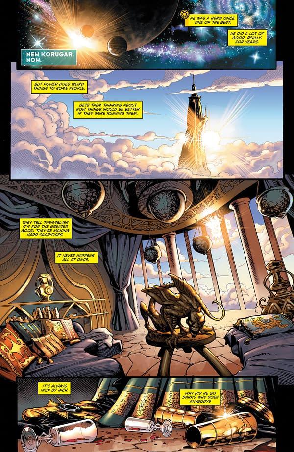 Interior preview page from GREEN LANTERN #5 CVR A BERNARD CHANG