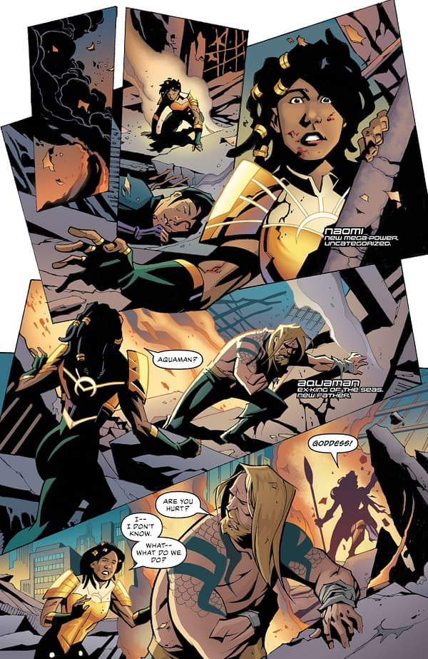 Interior preview page from JUSTICE LEAGUE #66 CVR A DAVID MARQUEZ