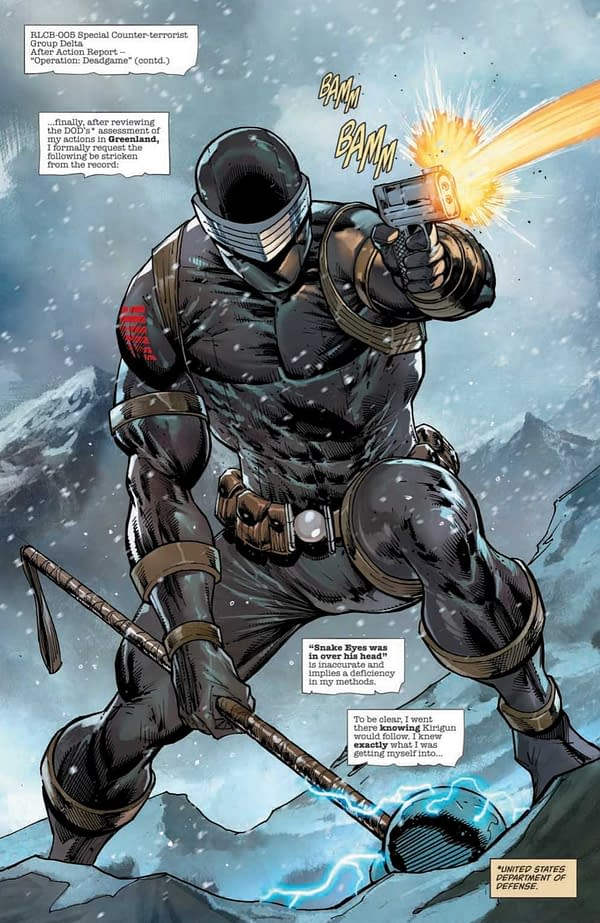 Interior preview page from SNAKE EYES DEADGAME #5 (OF 5) CVR A LIEFELD