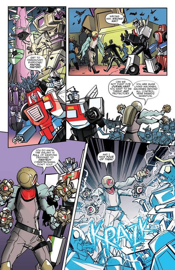 Interior preview page from TRANSFORMERS ESCAPE #5 (OF 5) CVR A MCGUIRE-SMITH
