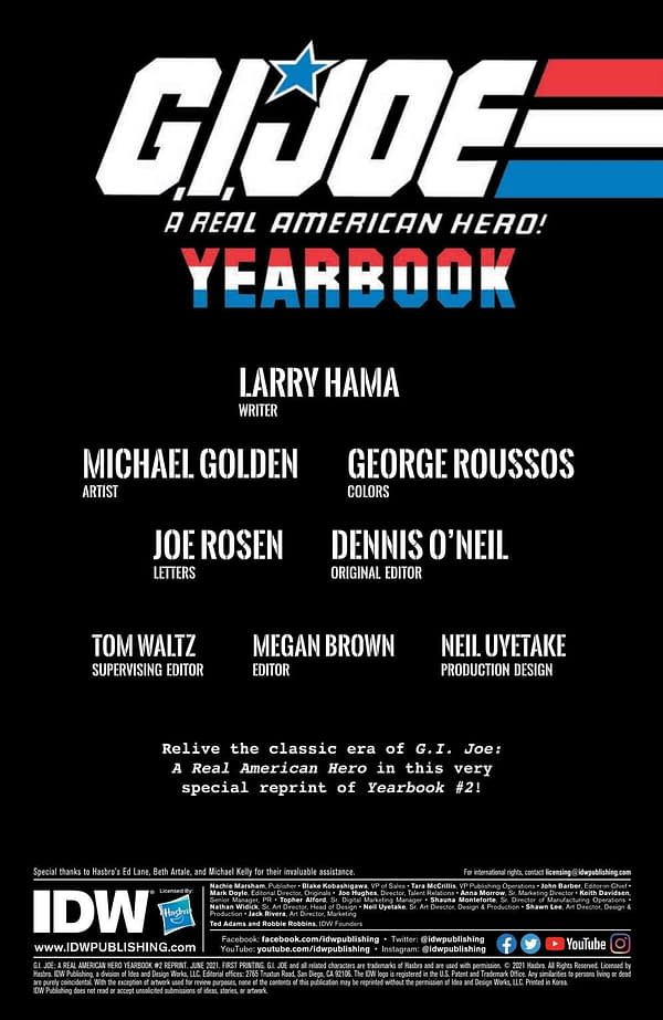 Interior preview page from GI JOE A REAL AMERICAN HERO YEARBOOK #2