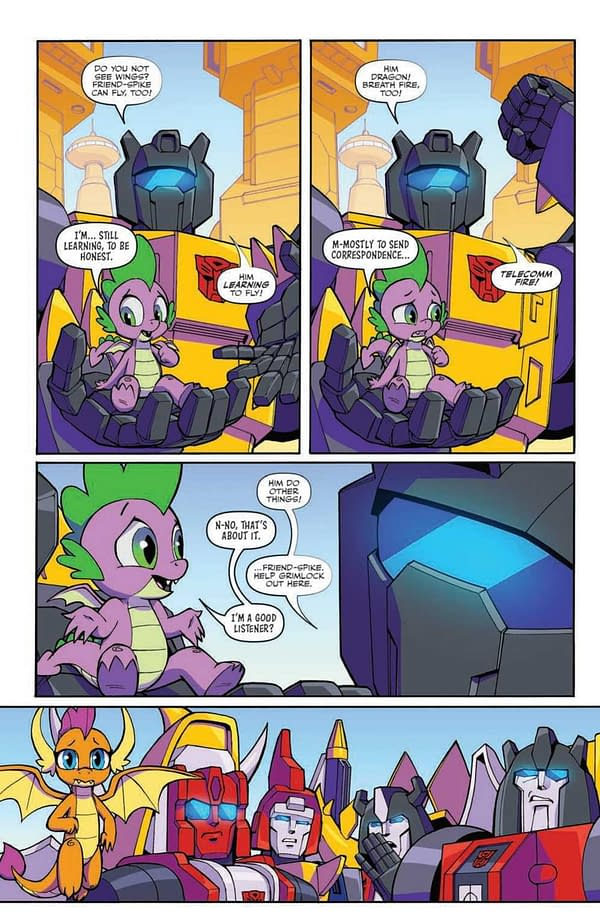 Interior preview page from MLP TRANSFORMERS II #4 (OF 4) CVR A TONY FLEECS