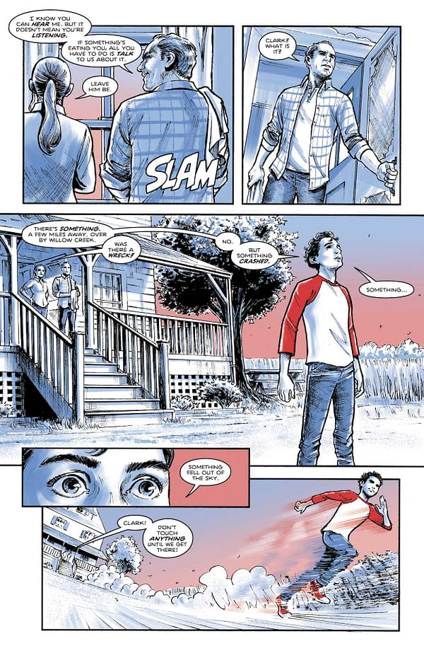 Interior preview page from SUPERMAN RED & BLUE #5 (OF 6) CVR A AMANDA CONNER