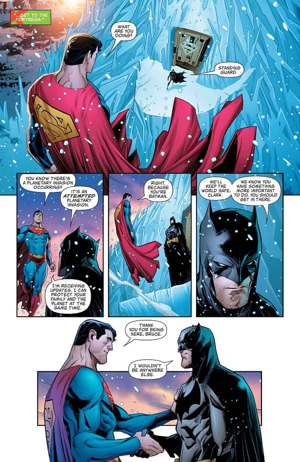 Interior preview page from SUPERMAN SON OF KAL-EL #1 CVR A JOHN TIMMS