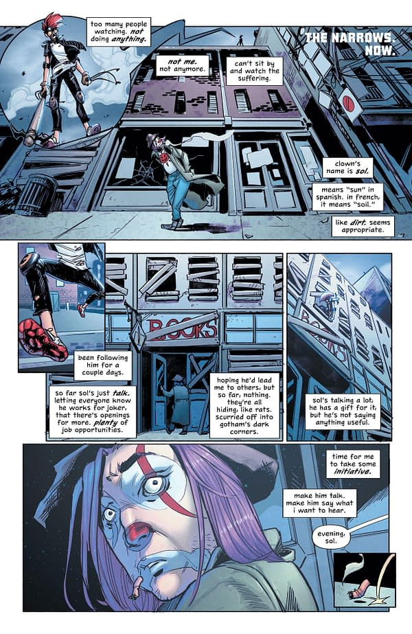 Interior preview page from BATMAN SECRET FILES CLOWNHUNTER #1 (ONE SHOT) CVR A MICO SUAYAN